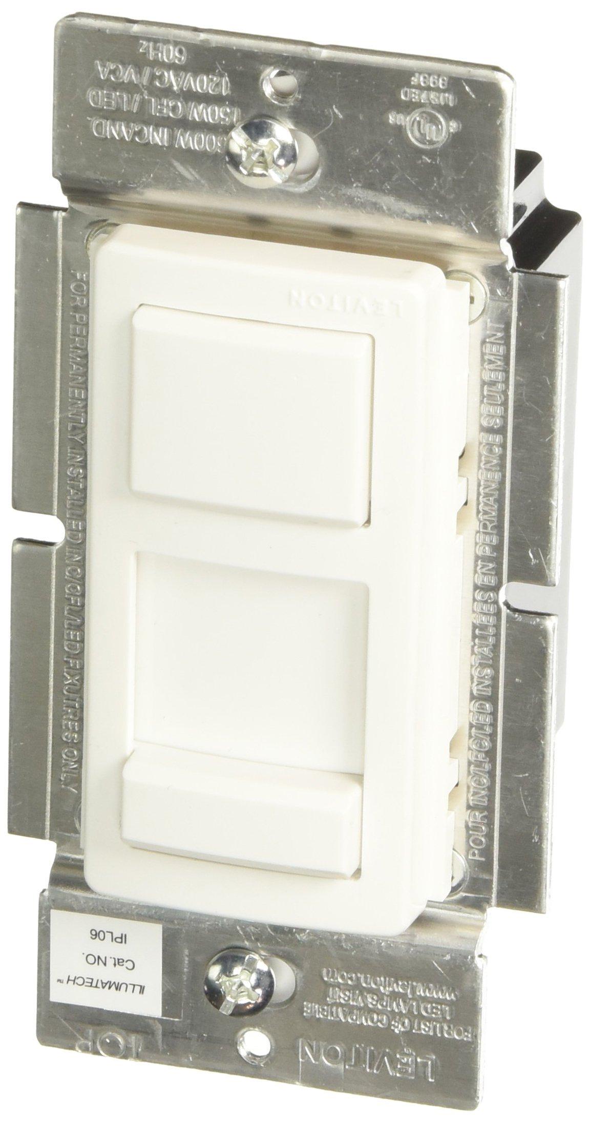 Leviton R50-IPL06-10M Single Pole 3 Way 120V Preset Slide Dimmer 需配变压器