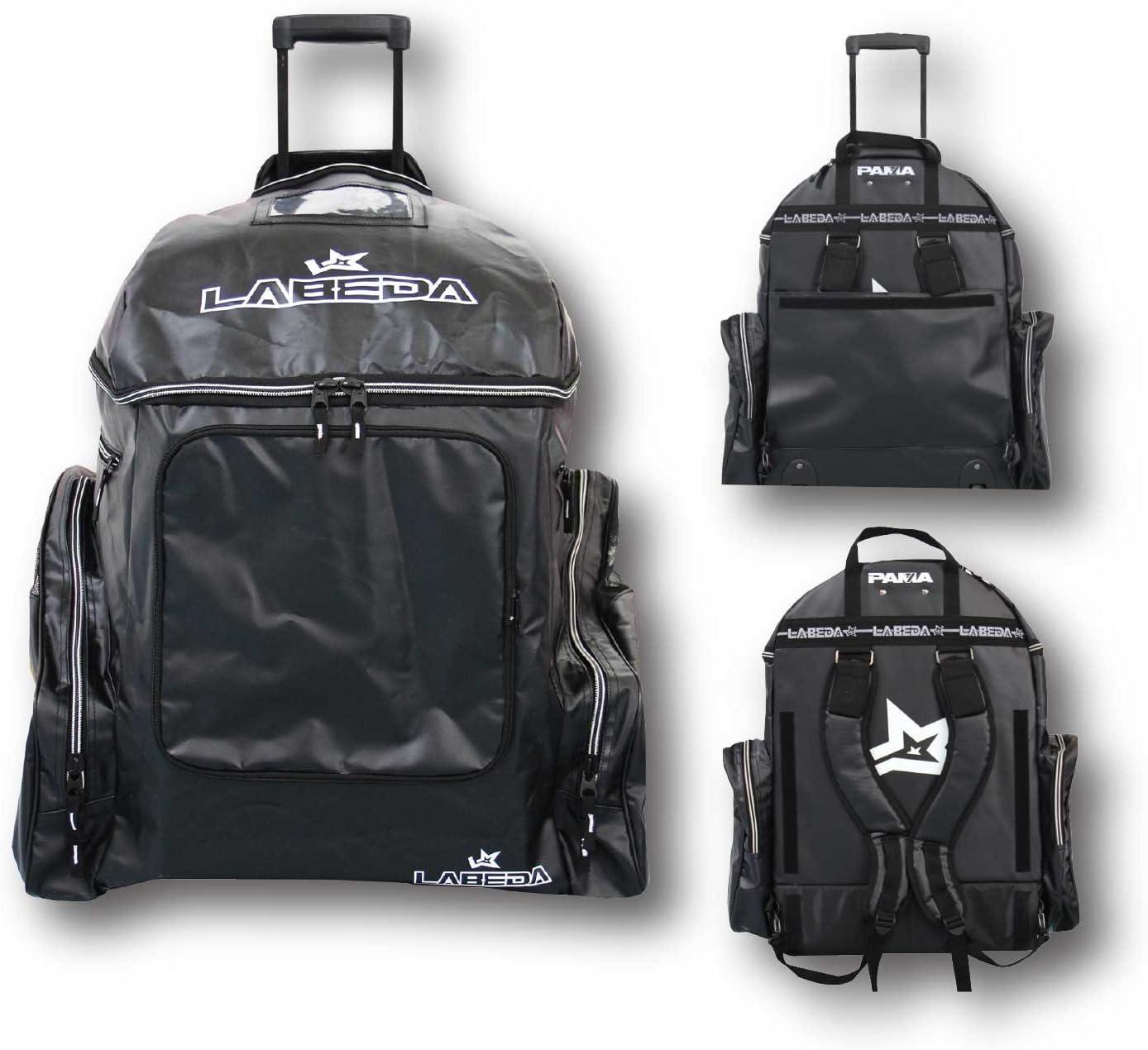 Amazon Com Labeda Roller Hockey Inline Wheeled Gear Bag Pama 7 1 Black Sports Outdoors