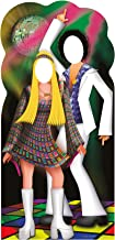 Star Cutouts, Disco Couple, Life-Size Stand-In Cardboard Cutout Stand In - 77 x 37 inches