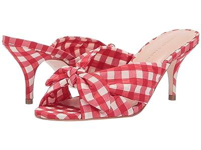 Loeffler Randall Luisa Knotted Kitten Heel (Red Gingham Fabric) Women