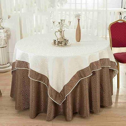 LHL-ZQ Hotel Restaurant Restaurant Europ che Stil Quadratisch Rundschreiben Double Layer Tischdecke Tischdecke Trim Table Skirt Esstisch Tuch (Größe   20cm  )