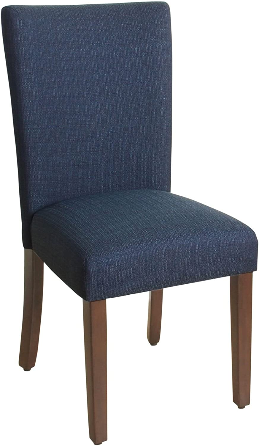HomePop Parsons Classic Upholstered Accent Dining Chair, Single Pack, Dark bluee