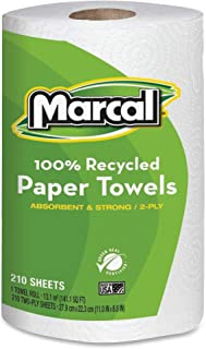 product image for 2-Ply 100% Recycled, Jumbo Roll Paper Towels - 210 Sheets/Roll - White, 1 Roll
