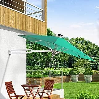 PARASOL Cantilever Terrace Umbrella,Solar LED Light Garden Umbrella, Folding Telescopic Balcony Umbrella, Patio Umbrella, 2.5 M Waterproof UV Balcony Umbrella