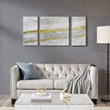 Madison Park Desert Waves Printed Canvas with Gel Coat and Gold Foil 3 Piece Set See below Off-white MP95C-0164