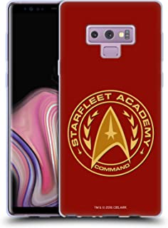 Official Star Trek Command Starfleet Academy Logos Soft Gel Case Compatible for Samsung Galaxy Note9 / Note 9