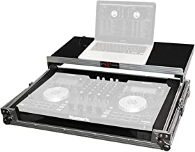 ProX X-NVLT Flight Case for Numark NV NVii and Mixtrack Pro 3 Digital Controller With Sliding Laptop Shelf - Silver on Bla...