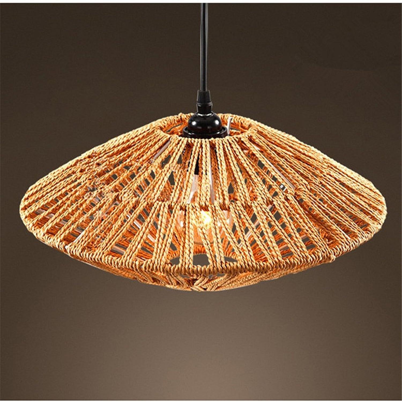 American Vintage chandelier de chanvre industriel bar restaurant cafe creative woven lamp, 40  20cm