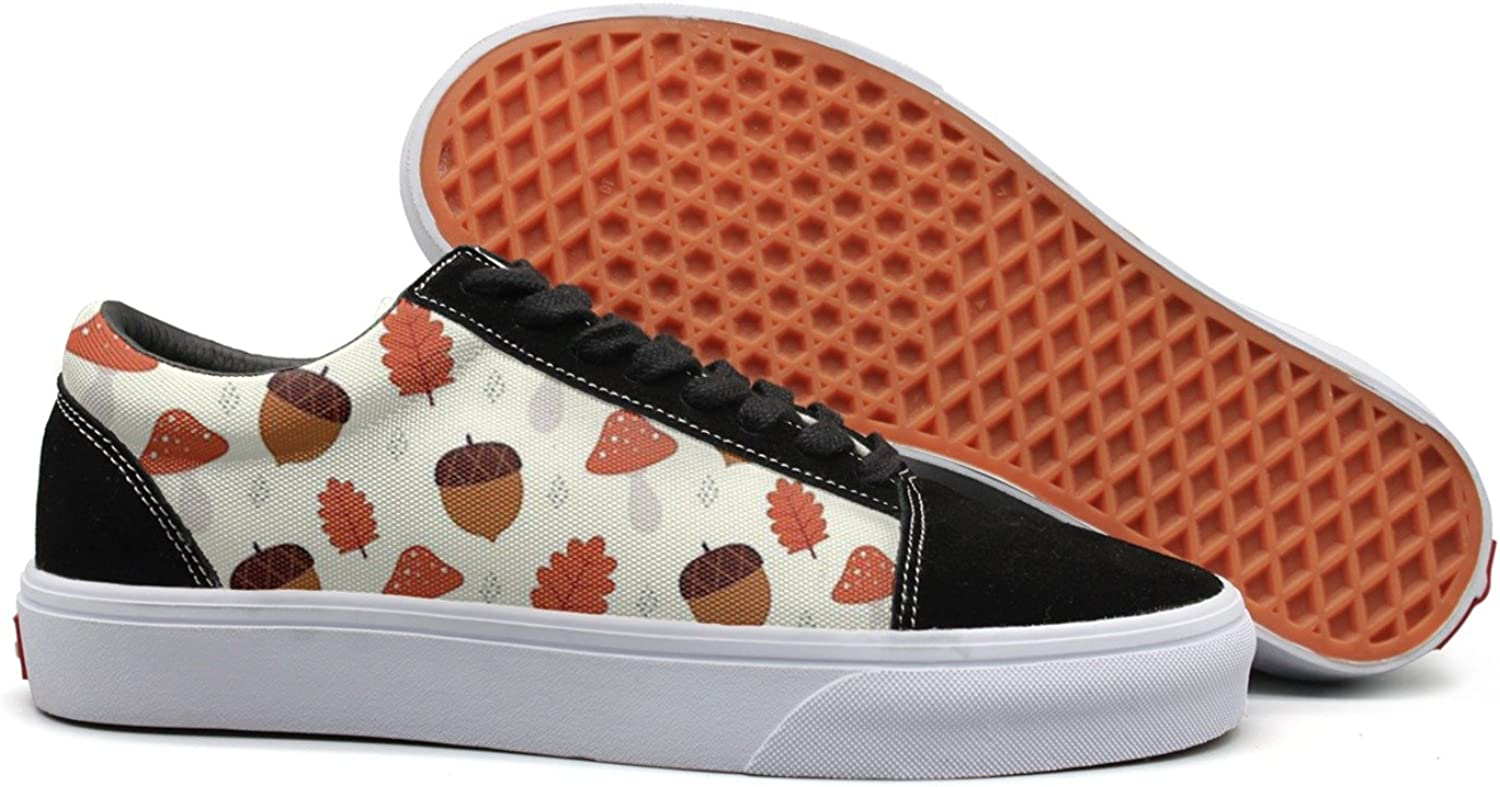 Fashio Canvas shoes for Women Great Winter Pine Cone Mushroom Sneakers