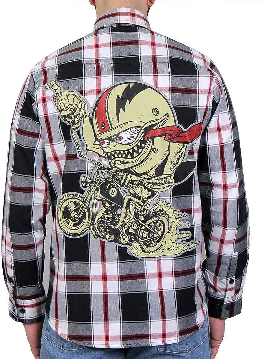 Hot Leathers FLM2104 Men's 'Bobber Monster' Flannel Long Sleeve Shirt