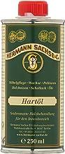 Hermann Sachse Holzöl Hartöl farblos für Holz innen 250ml Möbelöl für Möbel Tisch Arbeitsplattenöl Eiche Wildeiche Kernbuche Buche Nussbaum Kiefer Leinöl Holzschutz