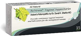Bezwecken – Nature's Naturopathic ReNewed Vaginal Suppositories – 15 Suppositories – Professionally Formulated to Replenish Vaginal Moisture – Safe, Natural & Estrogen–Free