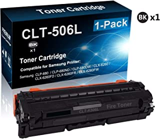 1-Pack (Black) Compatible High Yield CLT-506L (CLT-K506L) Printer Toner Cartridge use for Samsung CLP-680 Printer