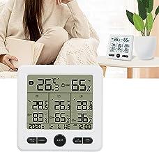 Termómetro inalámbrico, TS ‑ 6210 Termómetro inalámbrico 3 en 1 Higrómetro Medidores de temperatura para interiores y exteriores con alarma Termómetro para interiores Medidor de temperatura y humedad