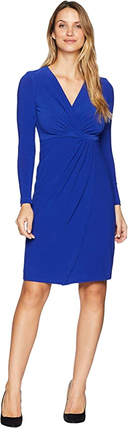 Crytal Crepe Wrap Dress