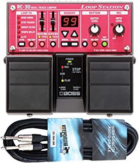 Boss RC de 30 Dual Loop Station Pedal Keepdrum Guitarra Cable 3 m