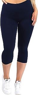 Veracco High and Wide Waistband Soft Capri Leggings for Women and Girls