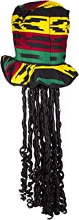 Rasta Top Hat with Dread Locks Costume Party Hat