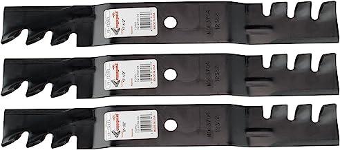 "3 roterende koperen getande mulchmessen passen Toro Timecutter Z 5000 serie 50"" dek 112-9759-03 110-6837-03"