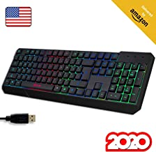 KLIM Chroma Gaming Keyboard Wired USB + Durable, Ergonomic, Waterproof, Silent Keyboard +..