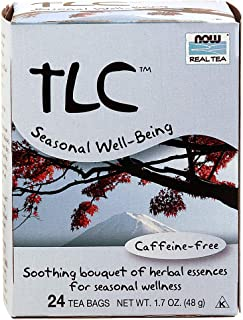 NOW Foods, TLC Tea, Seasonal Well-Being, Soothing Bouquet of Herbal Essences, Caffeine-Free, Premium Unbleached Tea Bags with Our no-Staples Design, 24-Count