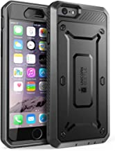 SUPCASE [Unicorn Beetle Pro] Case Designed for iPhone 6S, with Built-In Screen Protector Rugged Holster Cover for Apple IPhone 6 Case / 6S 4.7 Inch display (Black/Black)