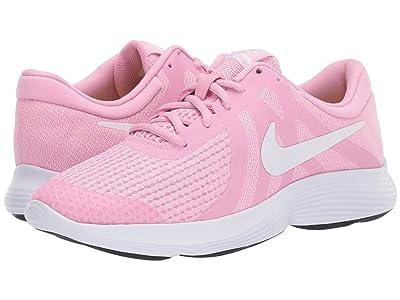 Nike Kids Revolution 4 (Big Kid) (Pink Rise/White/Pink Foam/Black) Girls Shoes