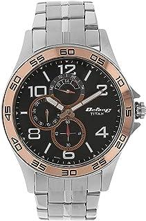 Titan Men's Contemporary Multi Function Work Wear Mineral Crystal, Quartz, Analog, Water Resistant Wrist Watch