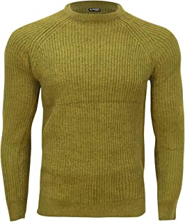 DressUMen Pullover Leisure Knitted Thick Crewneck Long-Sleeve Sweater