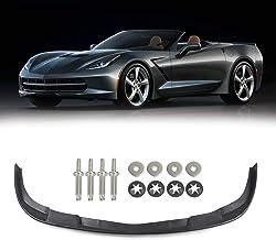 Artudatech Front Bumper Lip Spoiler for Chevy Corvette C6 Z06 Coupe ZR1 Style 2005-2013