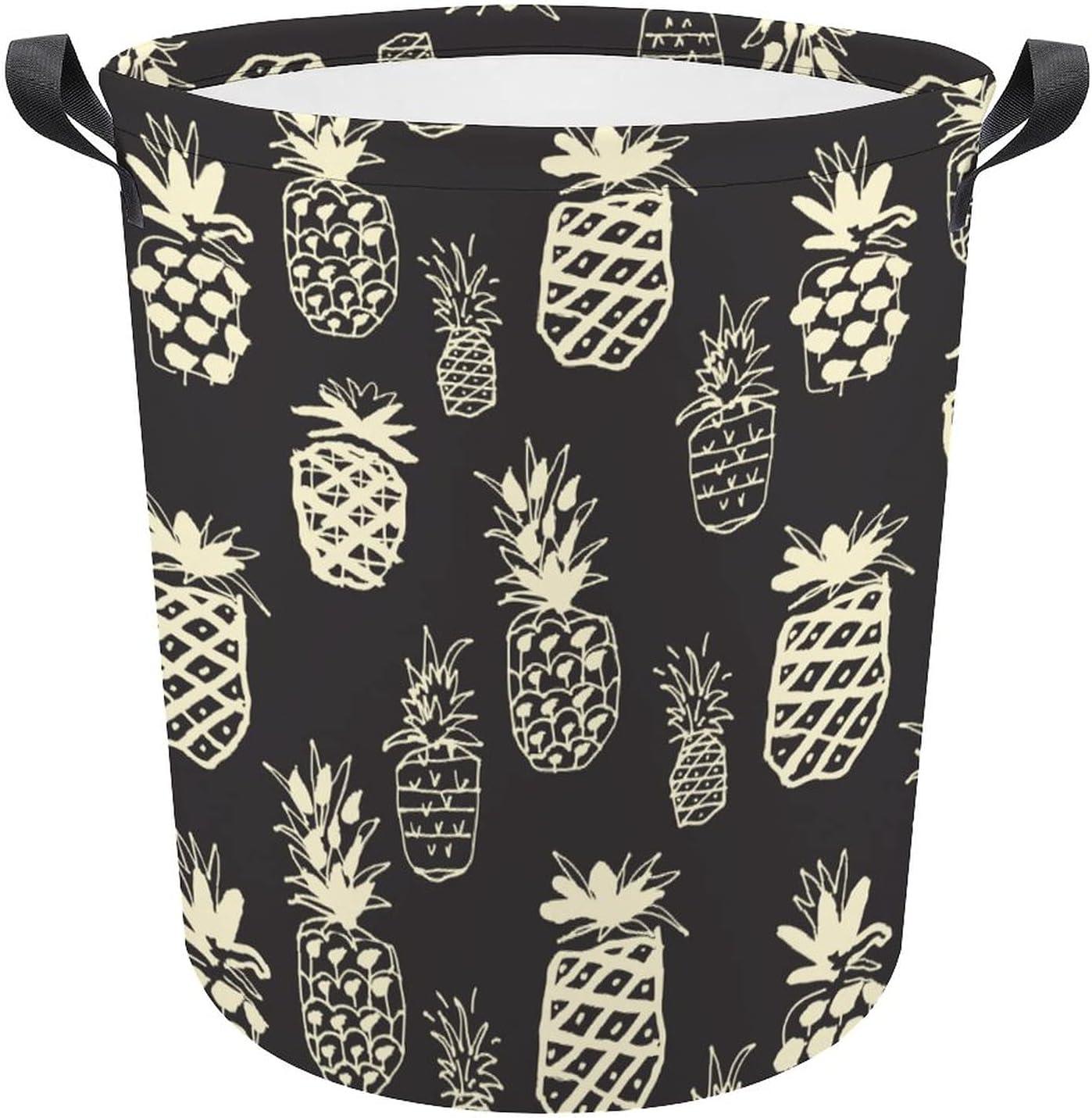 55% OFF Summer Doodle Vintage Pineapples on Oxford Black Gift Lau Al sold out.
