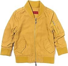 Haus of JR Devin Satin Bomber Jacket (Mustard Yellow)-Unisex