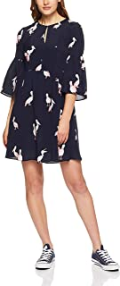 French Connection Women's Pelican Printed Dress, Nocturnal/Pink/Multi