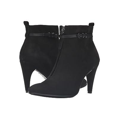 ECCO Shape 75 Sleek Ankle Boot (Black/Black Calf Nubuck/Cow Nubuck) Women