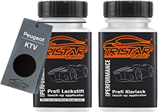 TRISTARcolor Autolack Lackstift Set für Peugeot KTV Noir Perla Nera Nacre Basislack Klarlack je 50ml