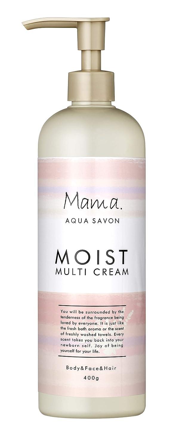 レンチ通知学士ママアクアシャボン モイストマルチクリーム フラワーアロマウォーターの香り 18A 400g
