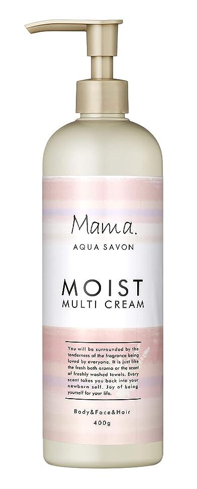 厄介なパドルさらにママアクアシャボン モイストマルチクリーム フラワーアロマウォーターの香り 18A 400g