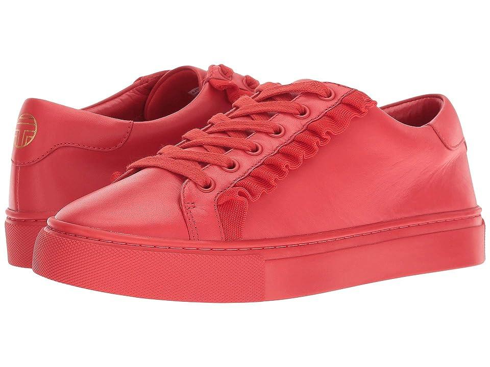 Tory Sport Ruffle Sneaker (Red/Red/Red) Women