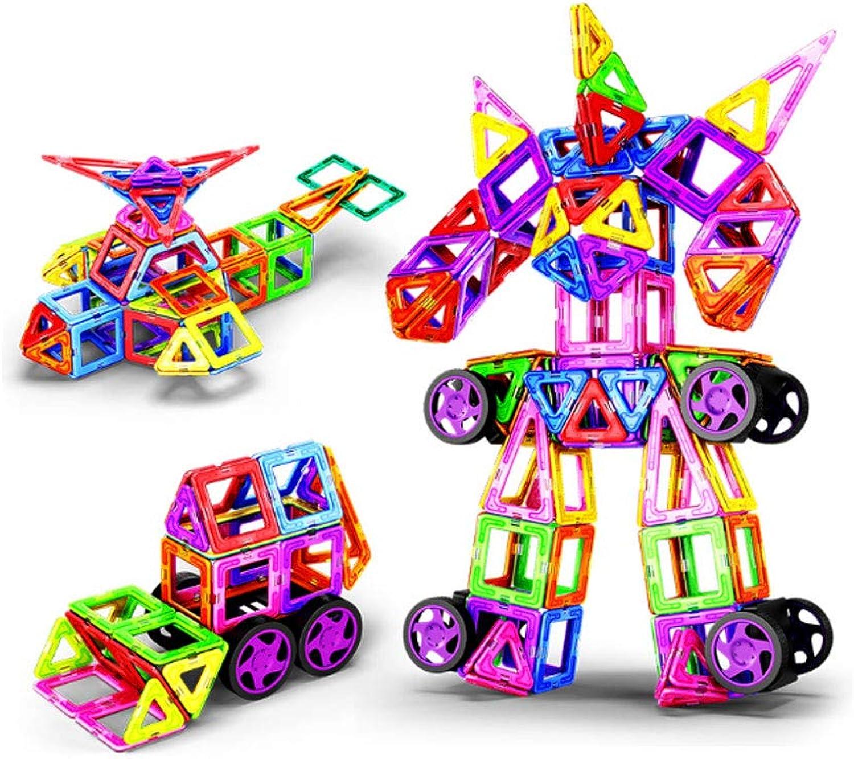 HBWJSH Reine magnetische Stück Bausteine Patch montiert Kinder pdagogische Jungen und Mdchen Magnet Magnet Stein Spielzeug (gre   270PCS)