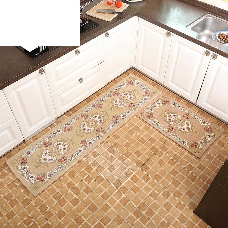 Doormat European-Style Floor mats Doormat Kitchen,Hall, Indoor mats [Absorbent],Anti-skidding,Carpet-G 50x180cm(20x71inch)