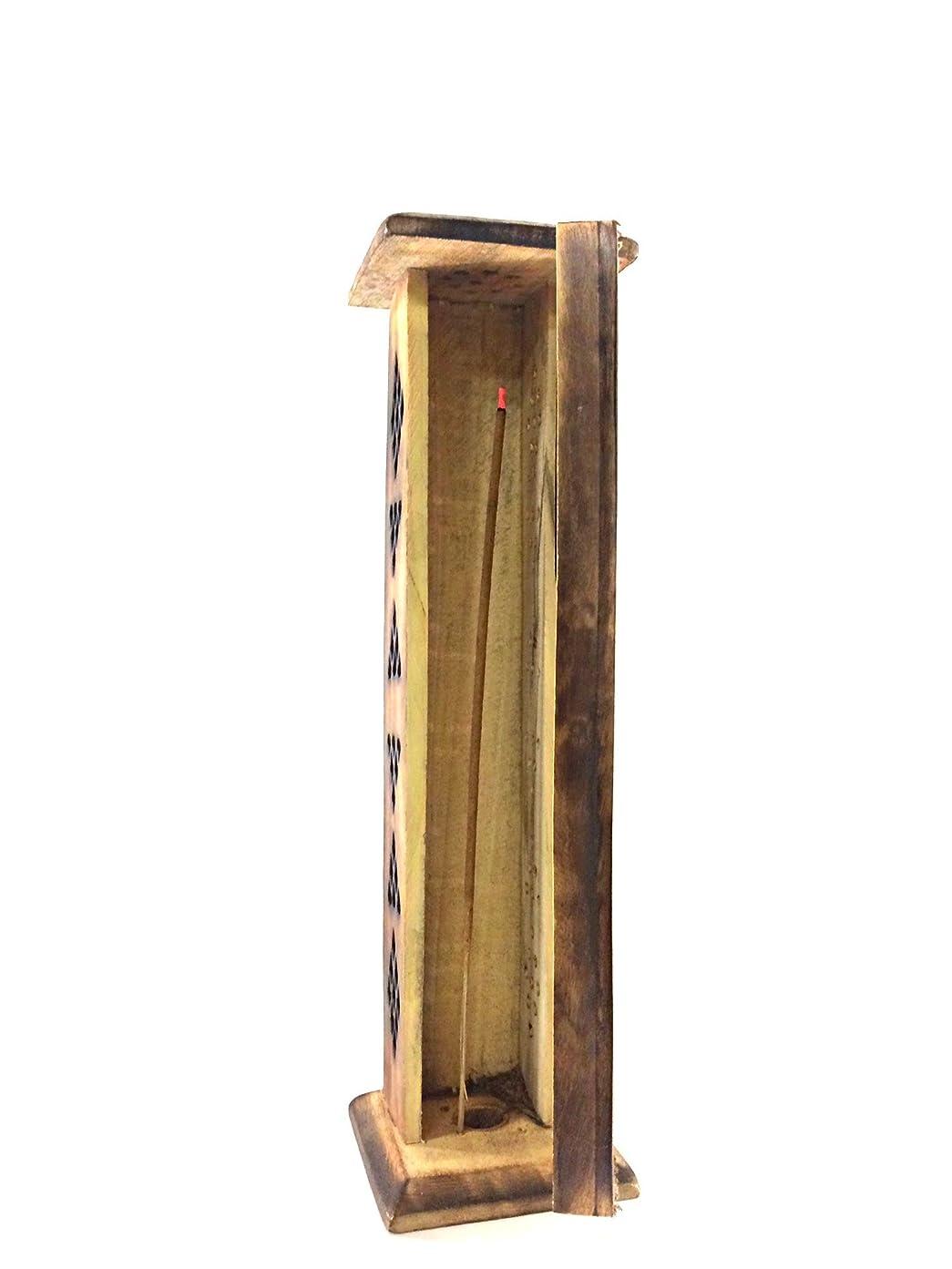業界場所荷物Karma Scents プレミアムマンゴーウッド お香タワースタンドホルダー 10本の手巻き線香付き