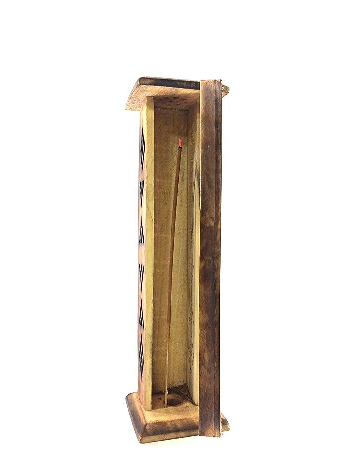 静脈非互換服Karma Scents プレミアムマンゴーウッド お香タワースタンドホルダー 10本の手巻き線香付き