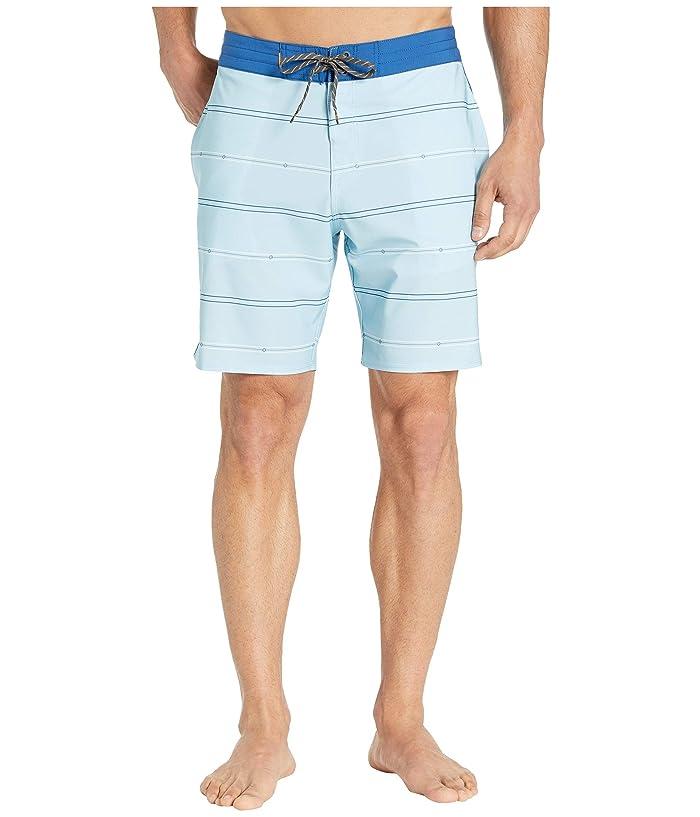 Quiksilver Waterman Liberty Stripe Beachshorts 19 (Cerulean) Men