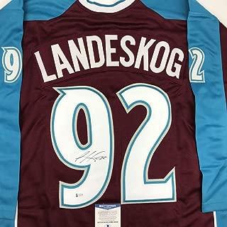 gabriel landeskog signed jersey
