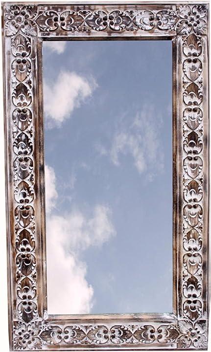 Specchio fatto a mano - flora bianca antica 120x70 cm, marrone, specchi guru-shop B0025U0MN8
