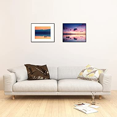 Golden State Art, 16x20 Aluminum Photo Frame with Ivory Mat for 11x14 Pictures, Includes with Sawtooth Hangers and Spring Cli