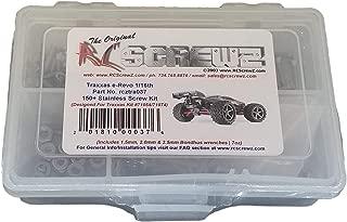 RCScrewZ Traxxas 1/16 E-Revo VXL Stainless Steel Screw Kit #tra037