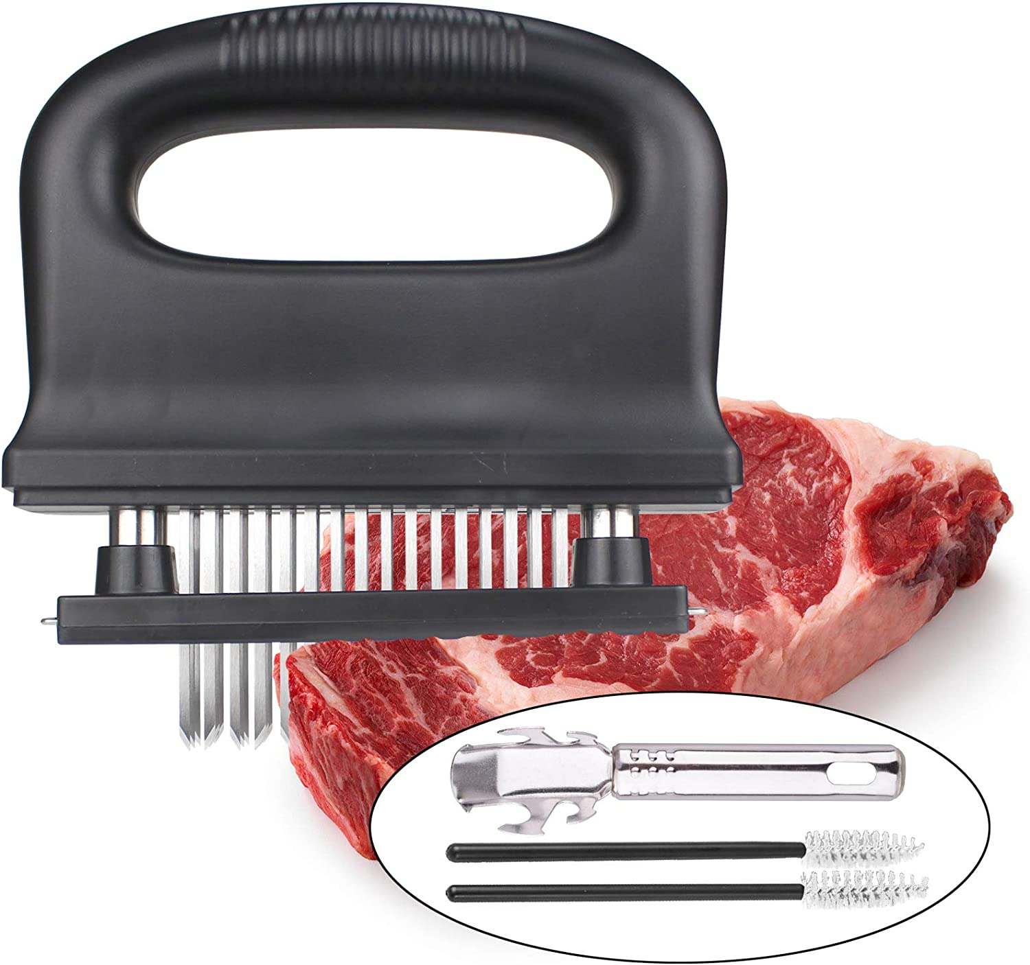 Meat Tenderizer Tool with sold out 48 Stainless Finally resale start Te for Blades Ultra Sharp