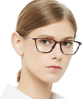 10f3fe1a653 Eyewear Frames-OCCI CHIARI-Rectangle Lightweight Non-Prescription Eyeglasses  Frame with Clear Lenses