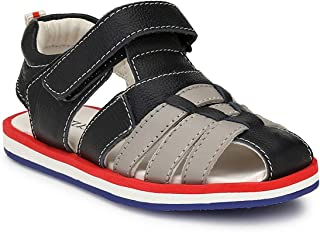 Tuskey Genuine Leather Sandals for Kids Boys Stylish Anti Slip Kids Sandals for Boys